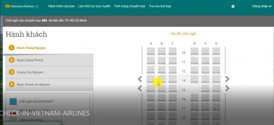 check in online vietnam airlines b3