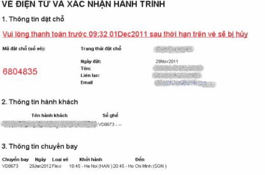 Làm sao kiểm tra code vé máy bay Vietjet?